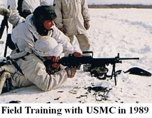 Field Trainig with USMC in 1989